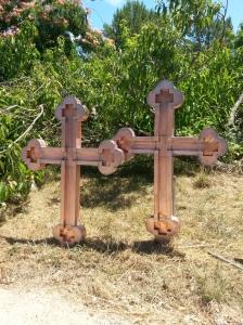 croix catholique cuivre