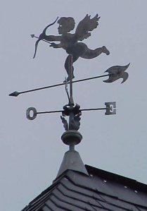 girouette cupidon zinc