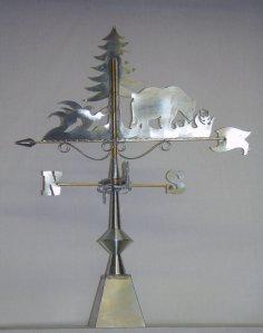 girouette ours zinc