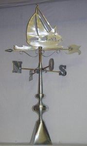 girouette voilier zinc