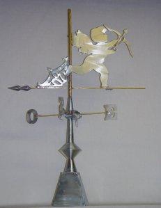 girouette zinc ange
