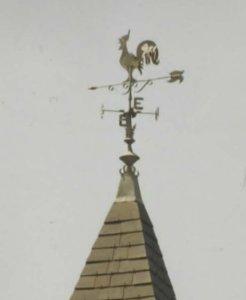 coq zinc sur clocher